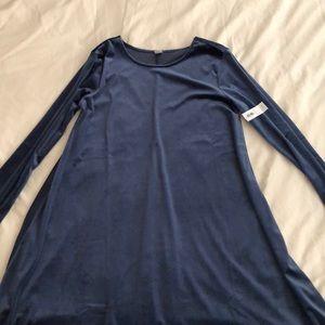NWT Old Navy Velvet swing dress
